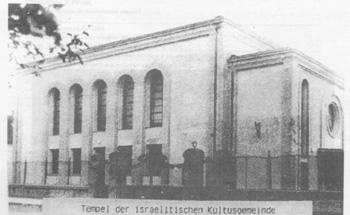 Fotografija sinagoge u Rumi nekada