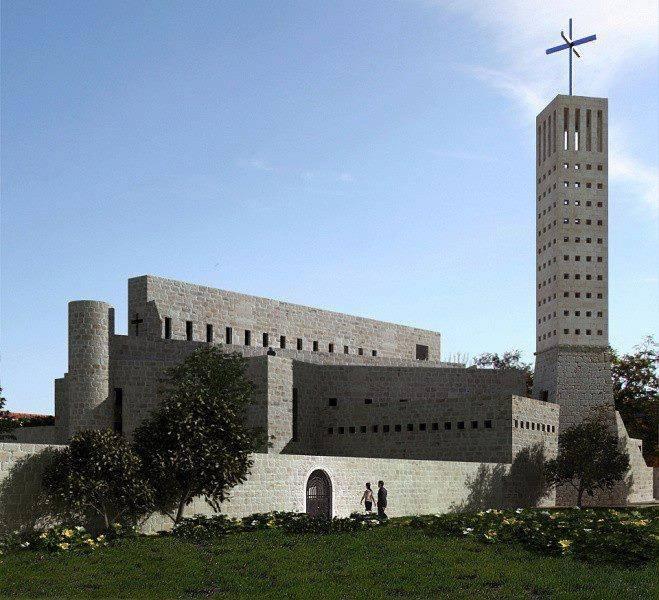 Slika 1. Crkva u Kninu, panorama