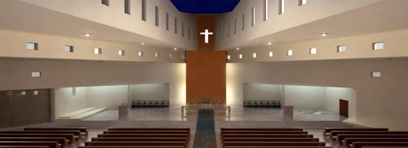 Interijer crkve u Kninu