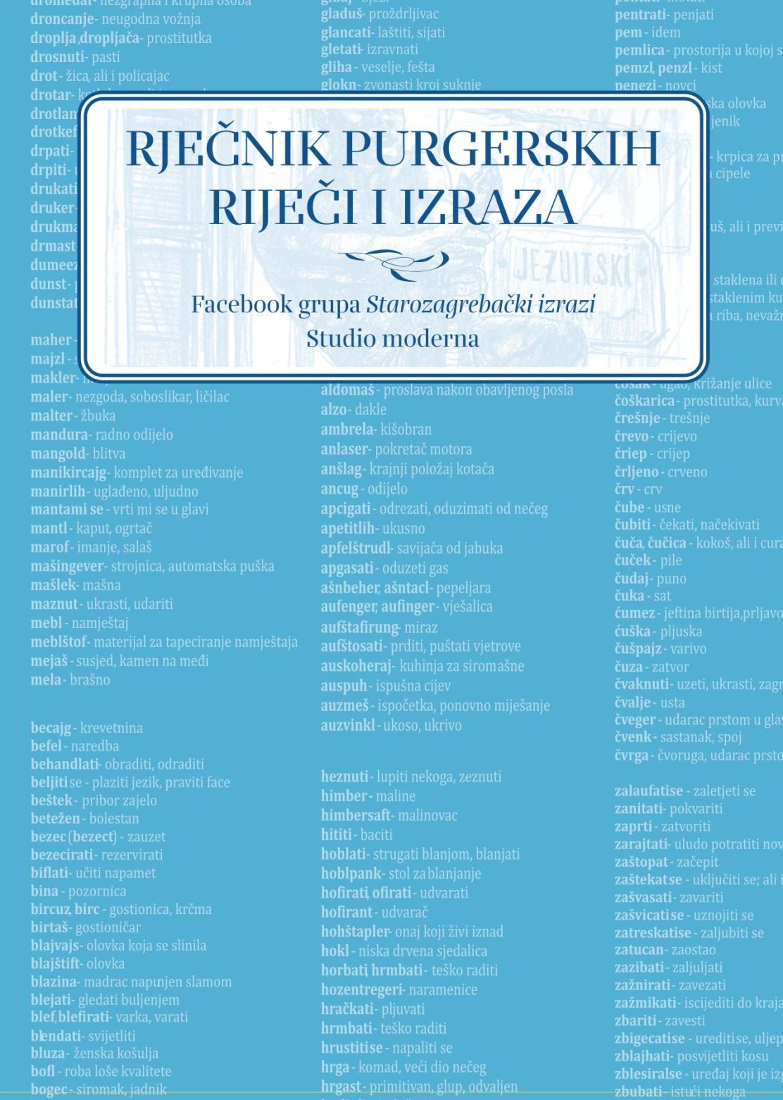 Purgerski rječnik - KORICE