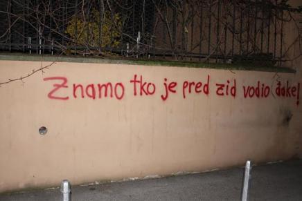 Grafiti kod muzeja u koji stižeHasanbegović