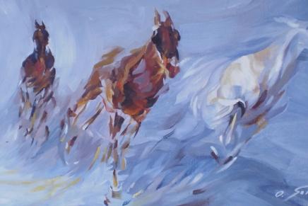 Olena Sokolovska: U potezu (Izložba u GalerijiKraluš)