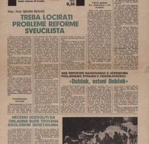 Pero Kvesić: Studentski list u sezoni 1970/71 (memoarskizapisi)