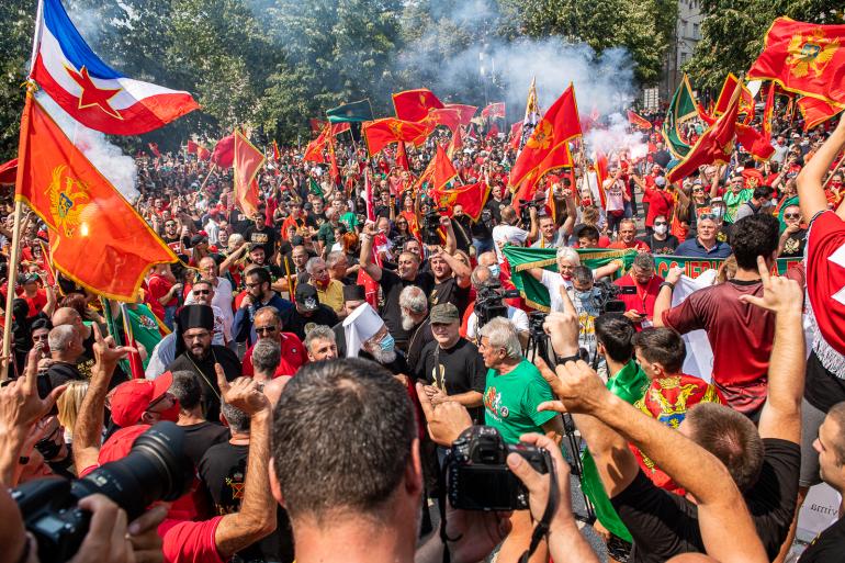 Crna Gora: Na Cetinju održan protest zbog najavljenog ustoličenja mitropolita Joanikija